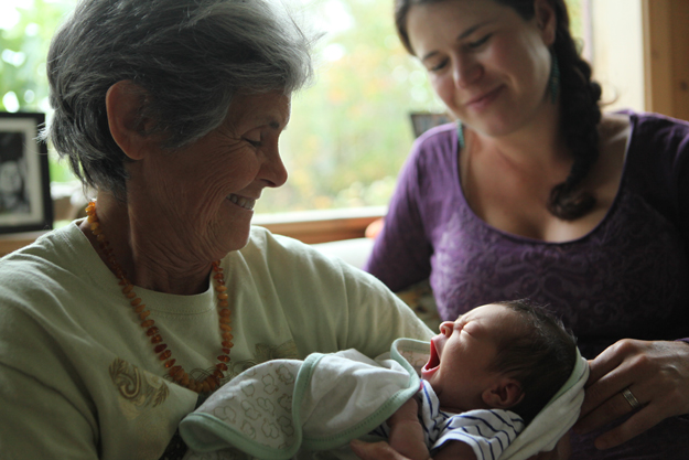 Doug's wife Nancy (holding grandaughter Inez) and daughter Amanda (photo by Gabe Van Lelyveld)