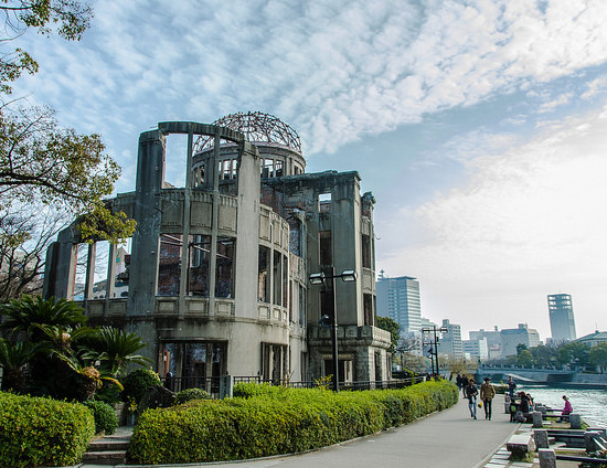 The A-Bomb Dome, a building in Hiroshima that partially remained intact after the 1945 bombing.Credit: cotaro70s/Flickr